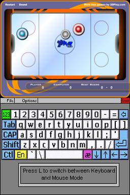 Flashplayer DS Mockup - Airhockey
